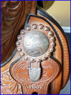 McLelland Show Saddle 16 Sterling Silver