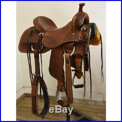 New! 15.5 HR Saddles Custom Ranch Cutting Saddle Code HR155RANCUT78FL