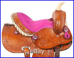 New Pink 10 12 Western Pony Pleasure Trail Show Youth Child Saddle Tack