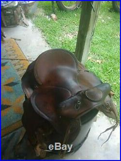 Nice Brown Leather Western Trail Riding Saddle 50155