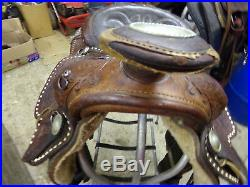 Nice Used 16 Seat Simco with buckstitching and fully tooled leather saddle
