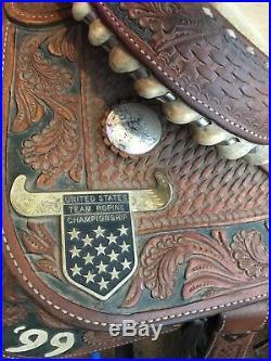 No Reserve! Jim Taylor 16 Roping incentive 1999 saddle