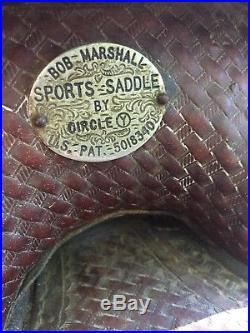 Old Bob Marshall Treeless 12 Kids Sized Barrel Racer Saddle