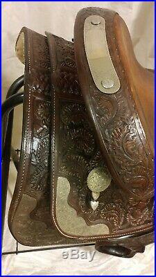 Original Billy Cook Entz Oakleaf & Acorn Western Show Saddle-15 VGUC