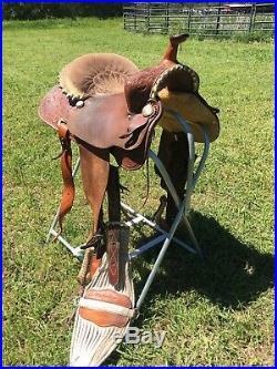 Original Billy Cook Saddle Maker Barrel Saddle 14 Made in Sulphur OK