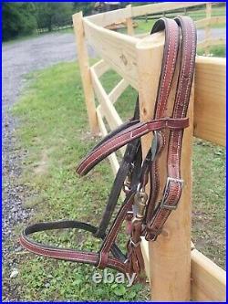 Orthoflex americana Saddle 17 In Seat with matching Ortho flex halter bridle