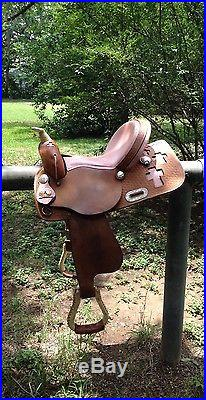 Pink Ostrich, Western Youth Barrel Saddle'15