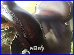 Pre-owned Circle Y Flex2 Flex Tree Western Trail Saddle 15 Seat