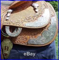 Price Drop! Blue Ribbon 15.5 Close Contact Equitation Western Saddle 0366