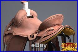 RS106 HILASON BIG KING Series WESTERN WADE RANCH ROPING COWBOY SADDLE 15 16 17