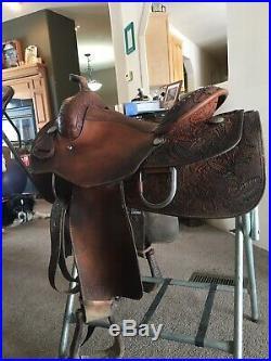 Reining Saddle 16 Tex tan Hereford