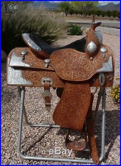 Rod's Custom Show Saddle Silver 16 Saddle Only