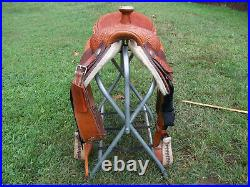 Roping Saddle/ Cool Horse Team Roper 16 Inch Padded Seat
