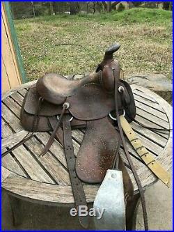Saddle 15 Circle Y Western Roper