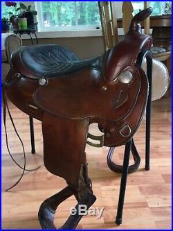 Simco 15 Custom Made In USA Western Saddle Arab Skirt Dark Cherry Leather