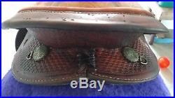 Simco 16 barrel saddle with pad and girth- good used saddle