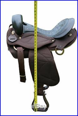 TN Saddlery Quilted Gaited Endurance Saddle 15 16 17 18