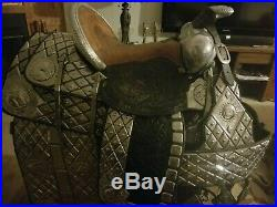 Ted Flowers Saddle, excellent condition, matched set, ready to ride