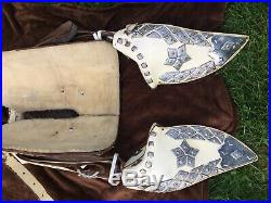 Ted Flowers White Parade Saddle complete withBreaststrap-Bridle-Taps-Serape RARE