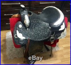 TexTan 16 Black Show Trophy Saddle