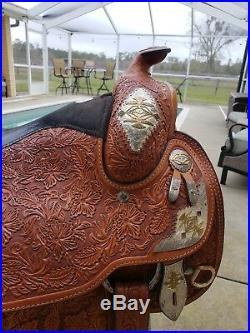 TexTan AQHA Collection Western Show Saddle. Size 16 Seat. Full Quarter Horse Bar