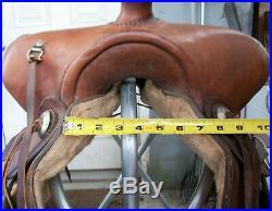 Tex Tan Genuine Leather Ranch Pleasure or Trail Western Horse Saddle 15.5 FQHB