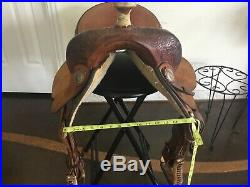 Tex Tan, Hereford Brand, Barrel Saddle, Good Condition