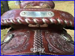 Tex Tan Hereford Show Pleasure Western Equitation Saddle 15 Tooled Silver