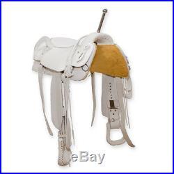 Trick Riding Saddle White 16 Seat Full Quarter Horse Bars
