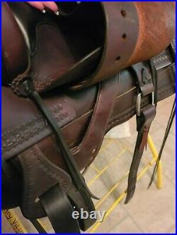 Tucker Old West Trail Saddle 277 18 seat Full Quarter horse bars 8 inch gullet