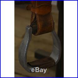 Used 13.5 Ortho Flex Barrel Racing Saddle Code U135ORTHOBRFLBD