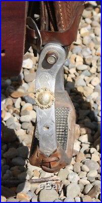 Used 14.5 / 15 Cactus Charmayne James BarreL Racing Saddle. Quality horse Tack