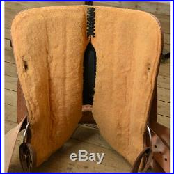 Used 14 Circle Y Saddlery Barrel Racing Saddle Code U14CYBR12BXBLBS