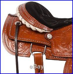 Used 15 16 Western Reiner Reining Pleasure Trail Horse Leather Saddle