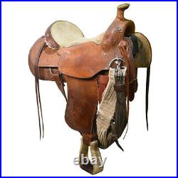 Used 15.5 Billy Cook Roping Saddle Code U155BCOOKTR78BK