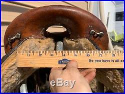 Used 16 Big Horn brown leather trail/endurance saddle 800