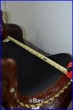 Used 16 Tex Tan #08-3005R6 Roping Saddle Regular Quarter Horse Bar