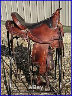 Used 17 Rocking R A Fork Trail Western Saddle