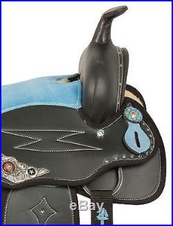 Used Blue 14 Western Barrel Racing Pleasure Trail Show Horse Saddle Tack