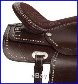 Used Gaited 16 17 18 Western Pleasure Trail Horse Leather Saddle Tack Set