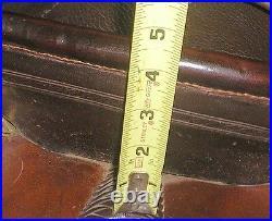 Used Rusty May Western Saddle 14 Dark Oil Very Sturdy Pre-Turned Stirrups