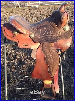 Used/vintage 14.5 Western barrel/pleasure saddle US made Southern Saddlery