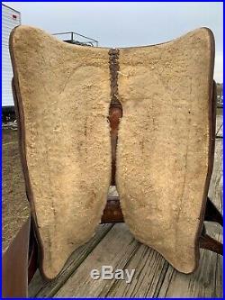 Used/vintage Cleburne Darryl Slinkard 15.5 Western reining saddle US made