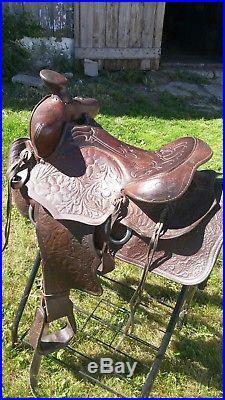 Vintage 15 inch Big Horn Saddle
