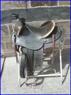 Vintage Bona Allen western champion bear trap ranch saddle