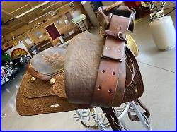 Vintage Circle Y 15 Western Saddle