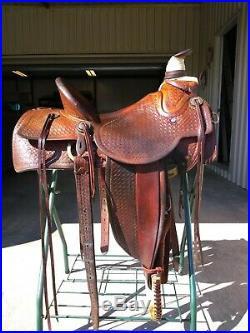Vintage Handmade Custom Western Saddle 15 seat