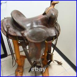 Vintage N. Porter American Western Leather Saddle 14
