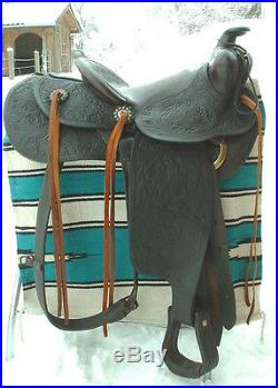 Vintage Powder River Western Saddle Outstanding Condition LOOK