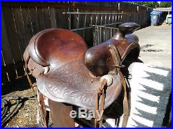 Vintage SIMCO Western Saddle, 16, made in Texas, USA